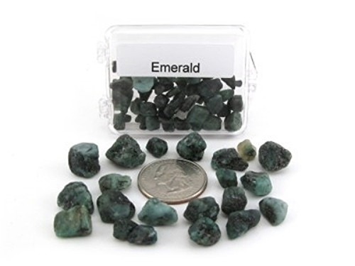 Acrylic Boxed Natural Emerald Rough
