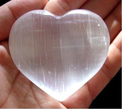 Selenite Calcite Heart  45-50mm