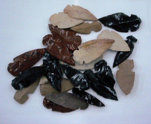 Assorted Stone Arrowheads 25 pc bag