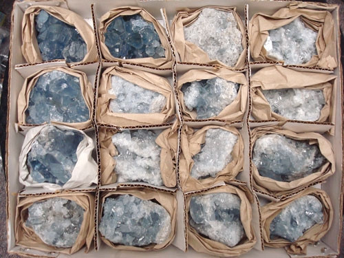 Celestite Cluster by the half flat *Current Special*