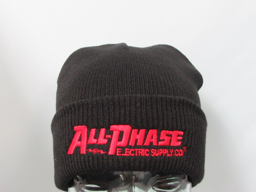 All-Phase Black Cuffed Beanie