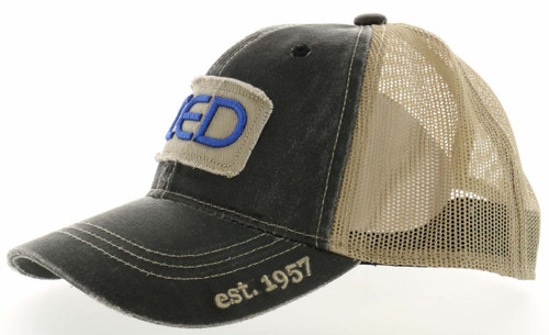 BMP CED Tattered Patch Distressed Mesh Hat