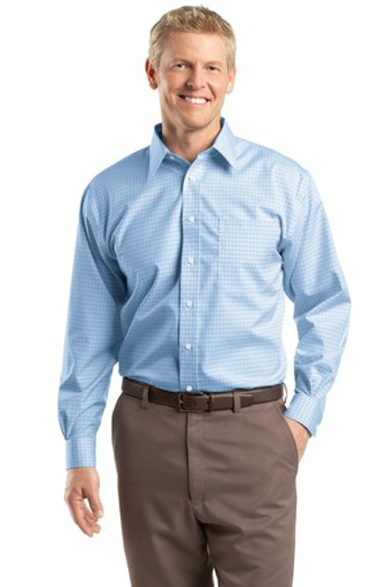 CED Red House Blue Check Dress Shirt