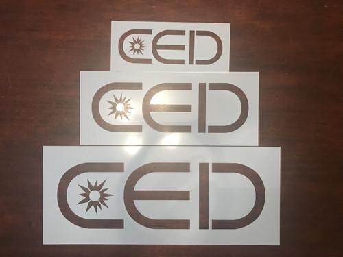 Custom CED Mylar Stencil Set
