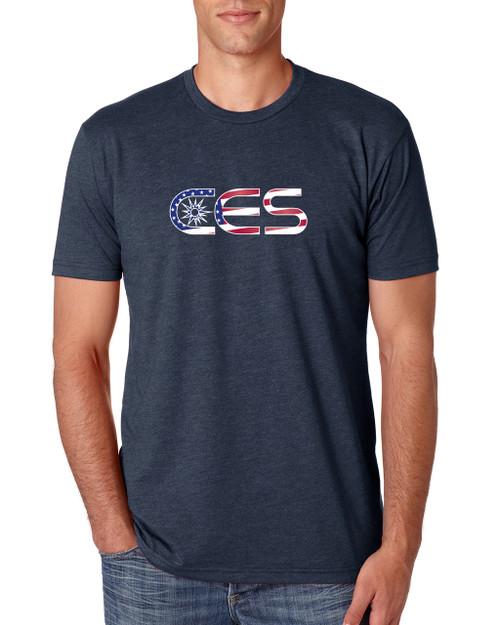 CES Flag Print T-Shirt