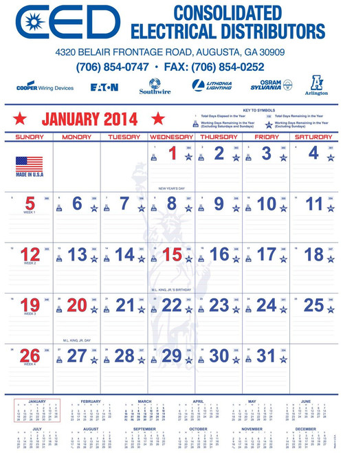 Patriotic Wall Calendar