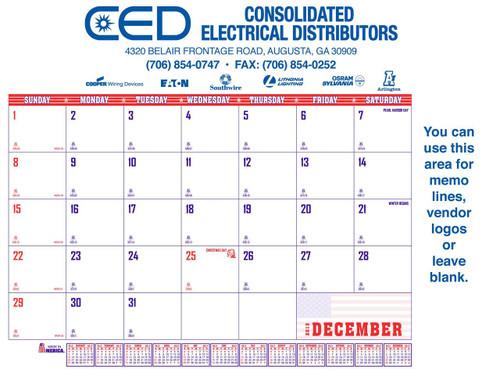 Patriotic desk calendar setup