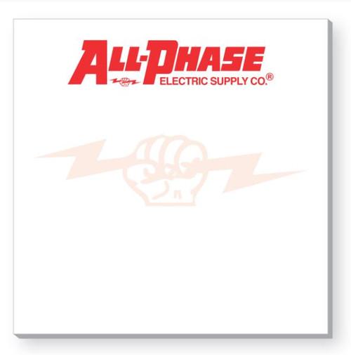 "Custom All-Phase Adhesive Notepad 3""x 3"""