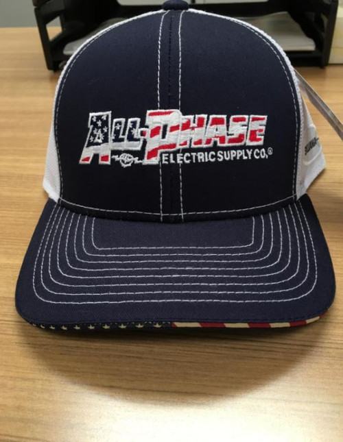 BMP Structured Mid-Profile All-Phase Emb Flag Mesh Hat