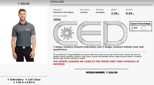 CED Approved Under Armour Embroidery