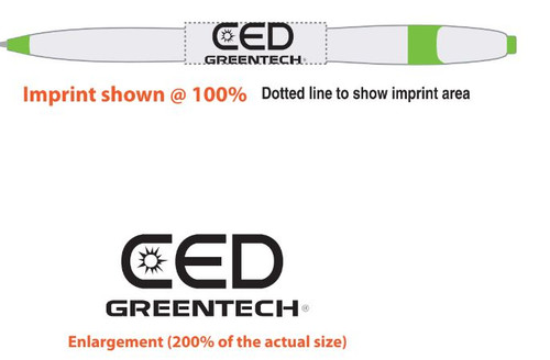 CED Greentech Pen Print Example