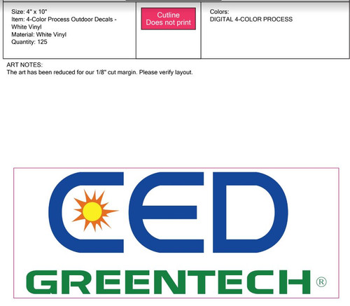CED Greentech Full Color Bumper Sticker