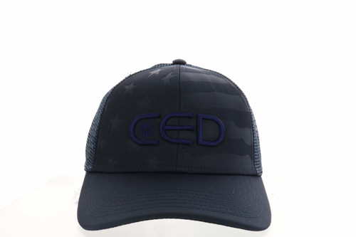 Navy Blue ODC CED 3D USA-750 Flag Hat
