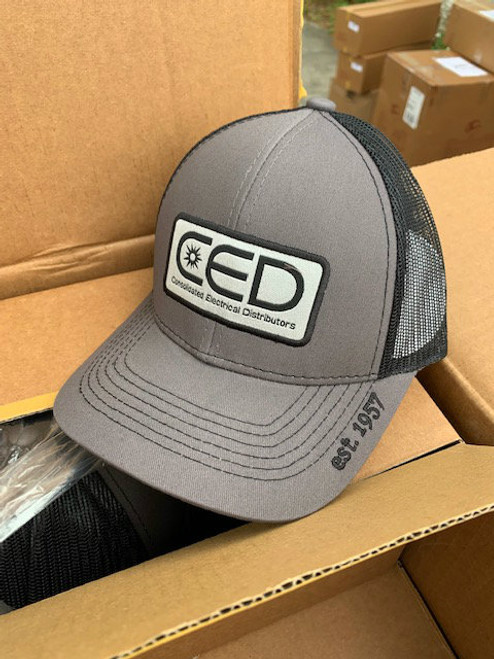 2019 CED Pro Round Crown Charcoal Black Mesh Patch Hat