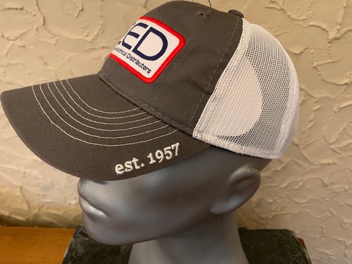 CED  Low Profile Charcoal White Mesh Patch Hat