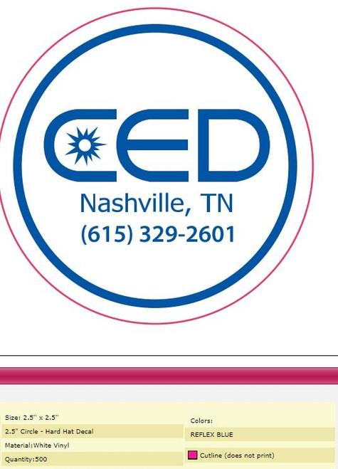 CED Round Sticker