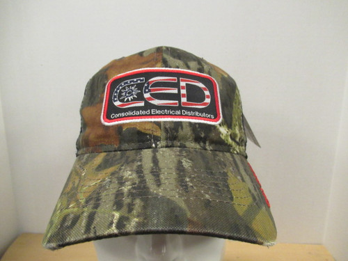 CED Mossy Oak Garment Washed Flag Patch Hat