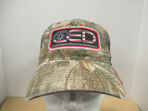 CED RealTree Garment Washed Flag Patch Hat
