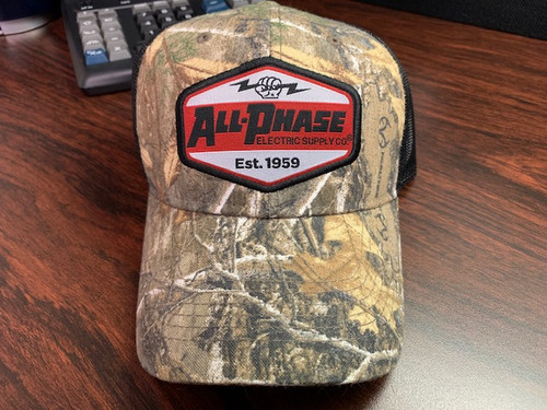 All-Phase Structured Realtree Camo Black Mesh Patch Hat