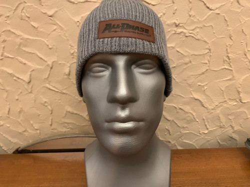 All-Phase Ribbed Knit Suede Patch Beanie Fall