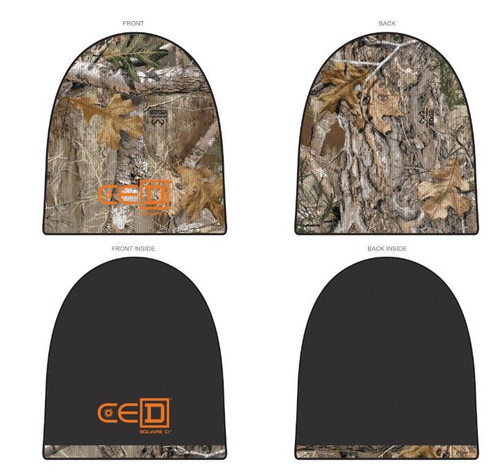 CED Square D Realtree Reversible Camo Beanie