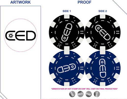 CED Poker Chip Proof
