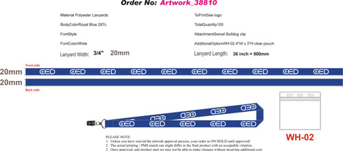 Custom CED Lanyard