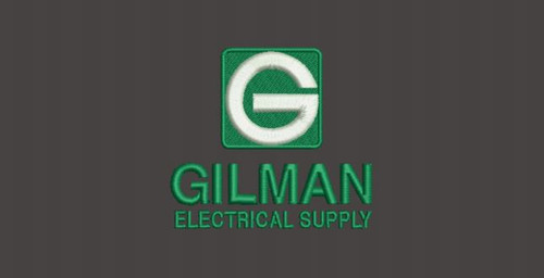Gilman Green White Electrical Supply Embroidery
