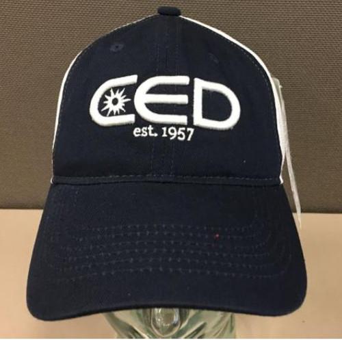 Navy Blue Unstructured  Low Profile CED est 1957 3D Mesh Hat