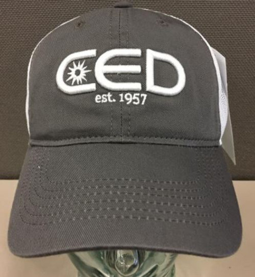 Gray Unstructured  Low Profile CED est 1957 3D Mesh Hat