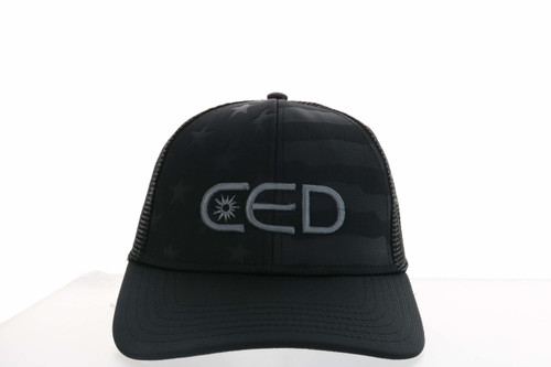 Black ODC CED 3D USA-750 Flag Hat