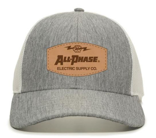 All-Phase Leather Patch  Low Profile Modern Trucker Hat