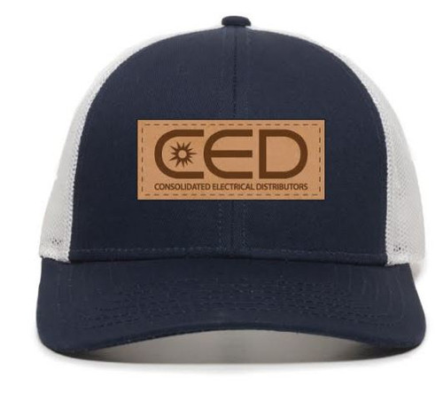 CED Leather Patch Low Profile Premium Trucker Hat