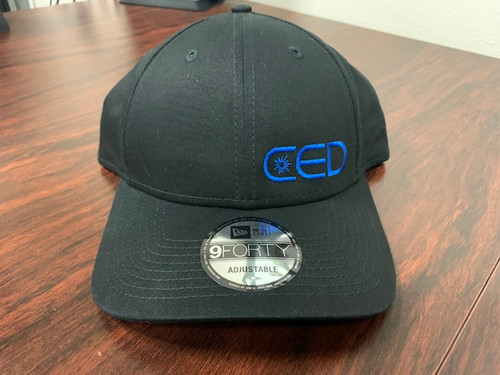 Black New Era Left Panel CED Structured Hat