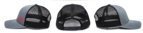 All-Phase Charcoal/Black Mesh Modern Trucker Hat -Version 2