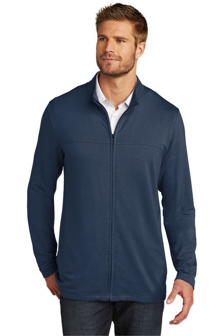 TravisMathew Full Zip Fleece TM1MU420  Blue Nights