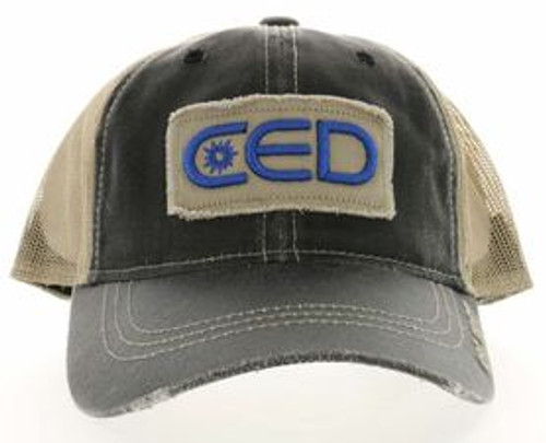 CED Tattered Patch Distressed Mesh Hat (Most popular)