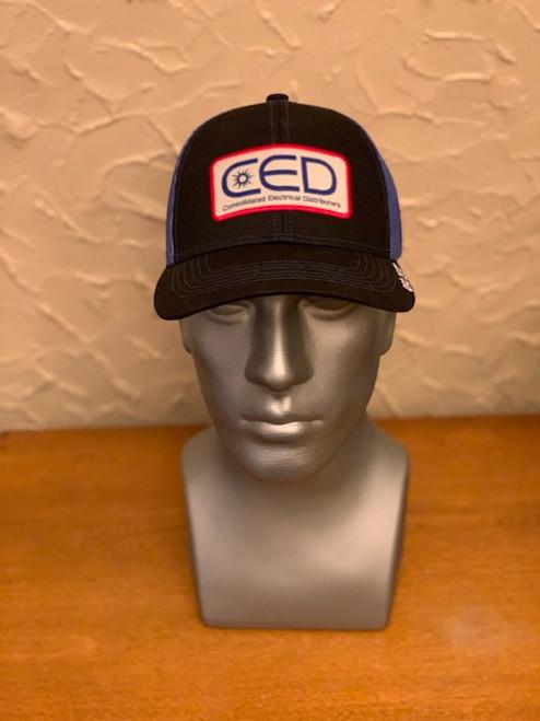 CED Black/Royal Blue Mesh Modern Trucker Patch Hat  (Pre-Order)