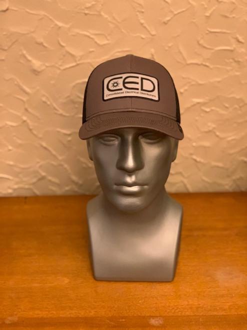 CED Charcoal/Black Mesh Modern Trucker Patch Hat (Pre-Order)