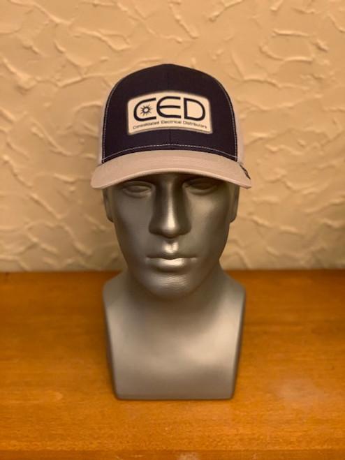 CED Navy/Gray/Gray Mesh Modern Trucker Patch Hat (Pre-Order)