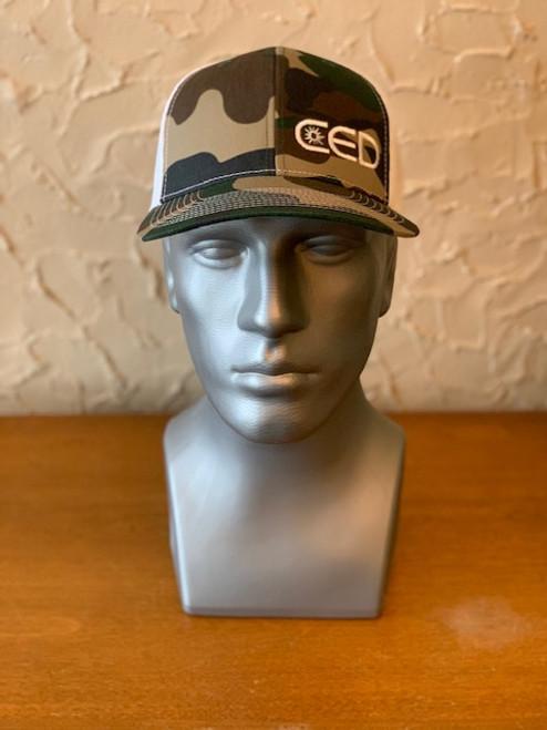 CED Left Panel Generic Camo Modern Trucker Hat