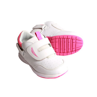 Hatchbacks Eclipse Kids Shoe : White/Pink (Size 8 only)