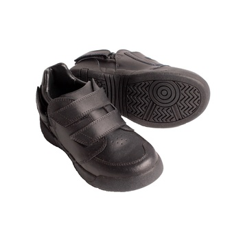 Hatchbacks Aspire Kids Shoe : Black Leather