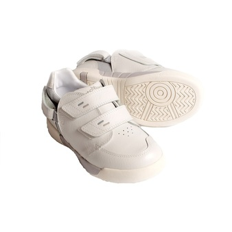 Hatchbacks Aspire Kids Shoe : White Leather/Light Gray
