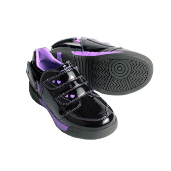 Hatchbacks Aspire Kids Shoe : Black Patent/Purple