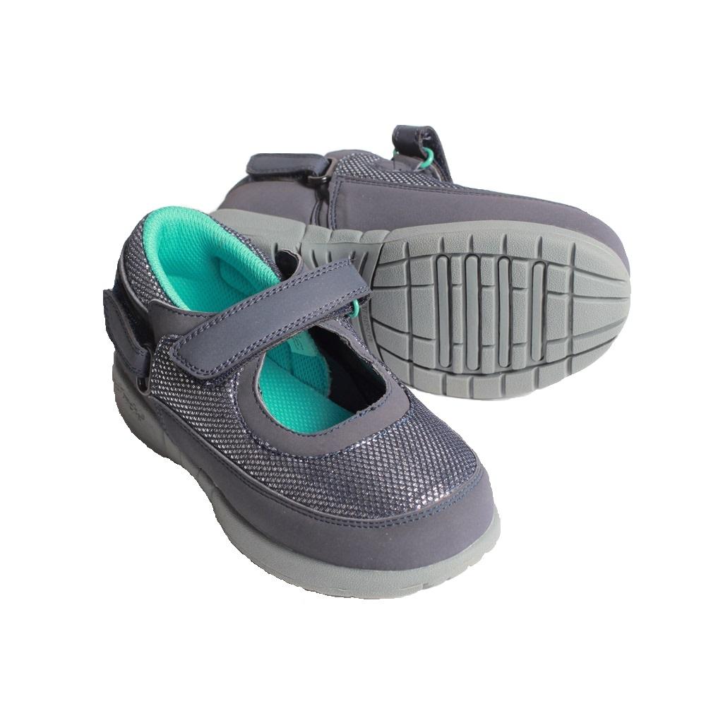 1897cd534f30 Hatchbacks Ava Girls Shoe   Navy Silver Teal  Clearance sizes 5c-3k -  Hatchbacks
