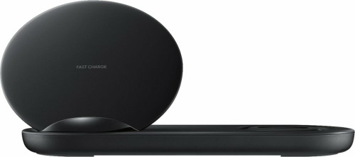 Samsung - 7.5W Wireless Charger Duo - Black EP-N6100TBEGUS