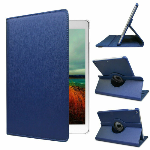 iPad pro case For 12.9 / 11 / 10.5 / 9.7 inch 360° Rotating Smart Cover Case Royal Blue