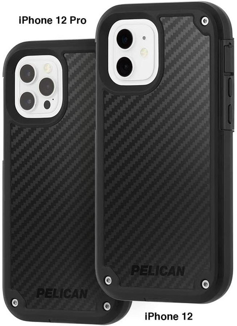 Pelican Shield Series G10 Case for iPhone 12 and iPhone 12 Pro Black Kevlar