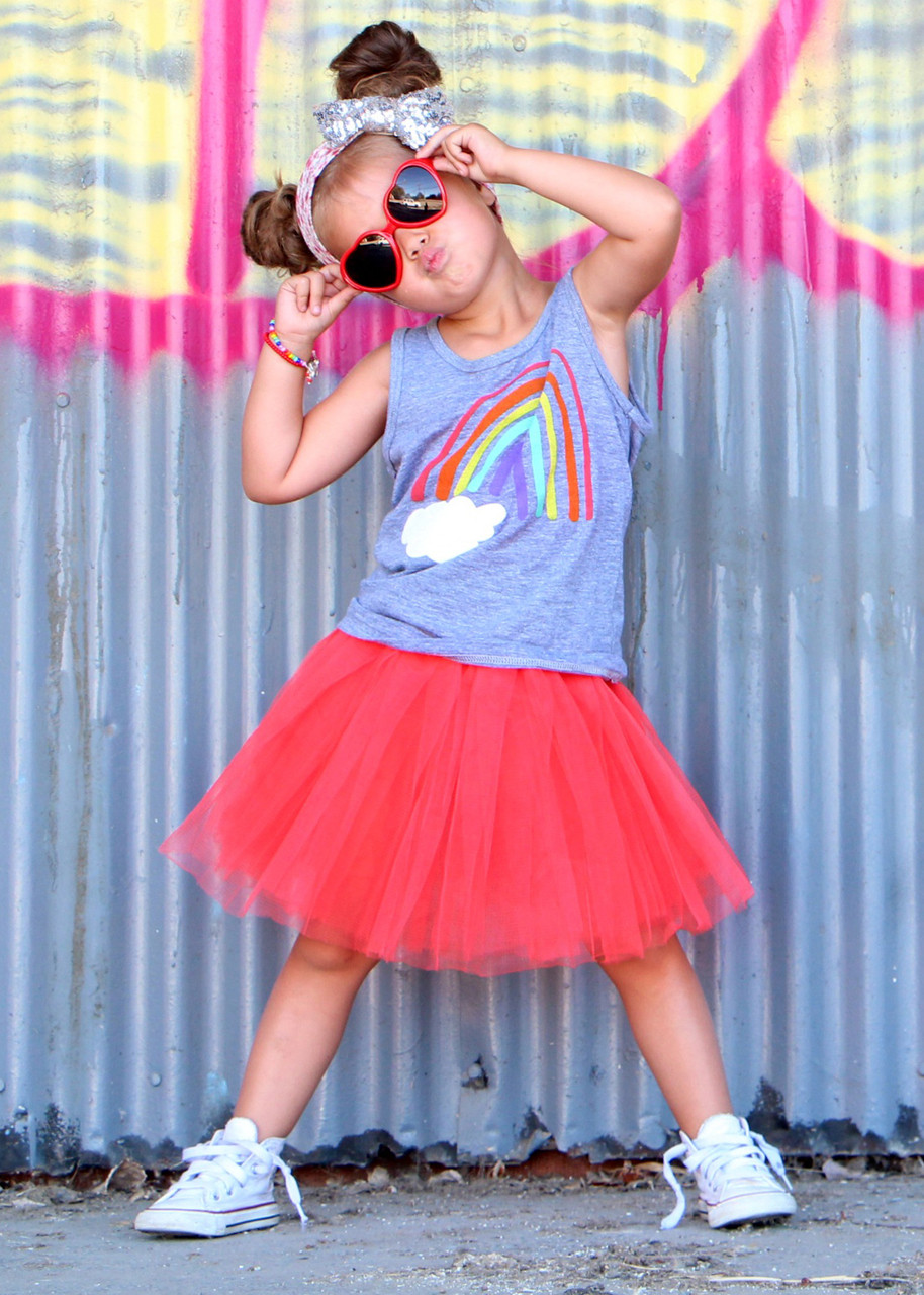 5f1cff4a4 Little Girl's Tutu in Solid Colors (Red, Pink, Black, Yellow + 15 more)
